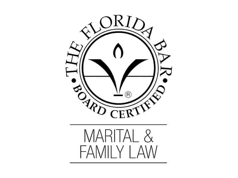 Board Certified in Marital and Family Law by The Florida Bar